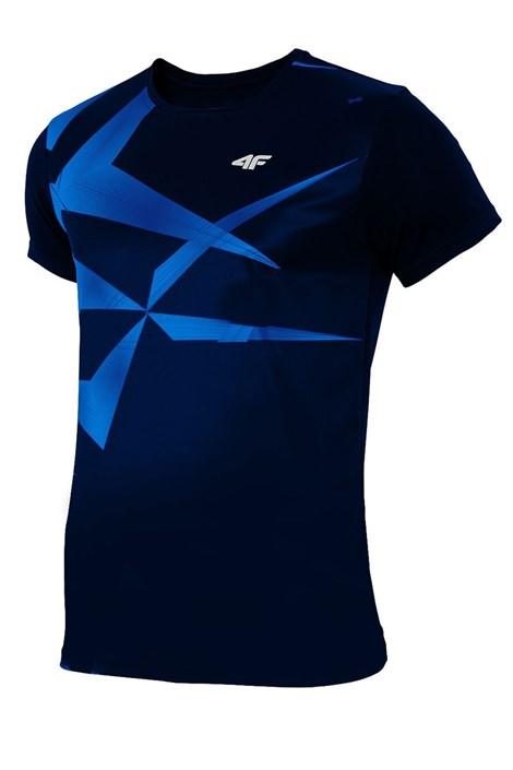Tricou sport barbatesc 4F Dry Control Blue effect