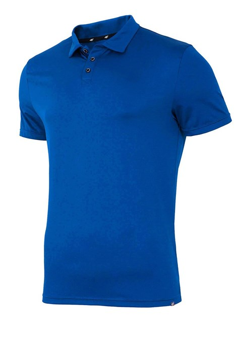Tricou polo barbatesc 4F Dry Control Blue