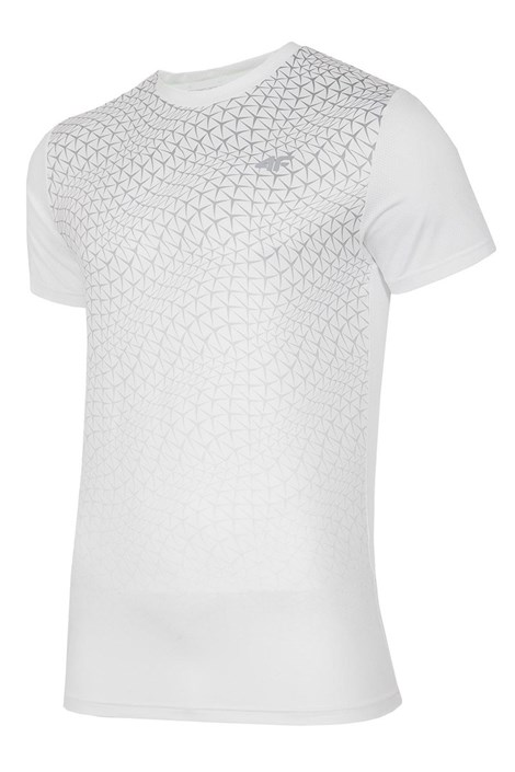 Tricou barbatesc 4F Dry Control Dynamic White, material functional