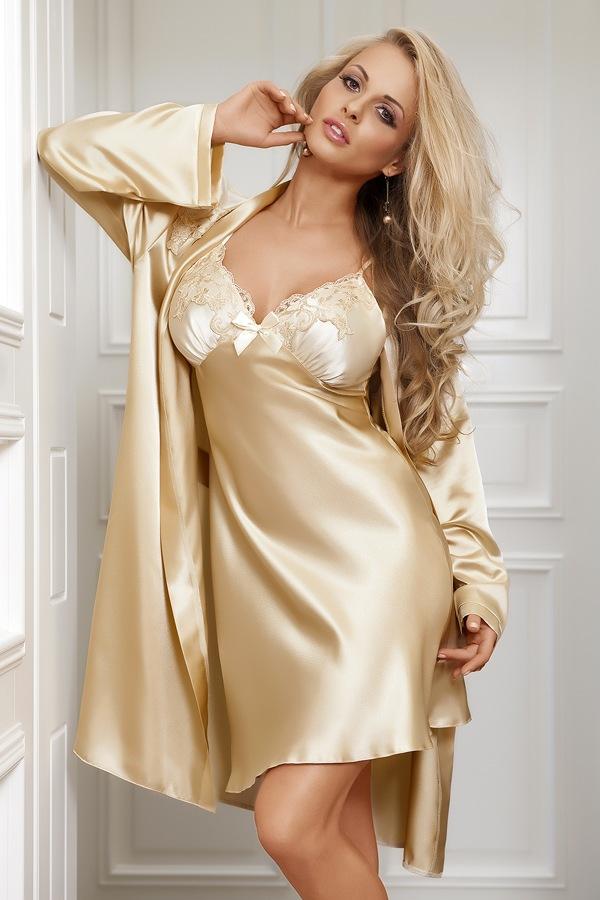Silk robe fetish joi handjob in condom milf