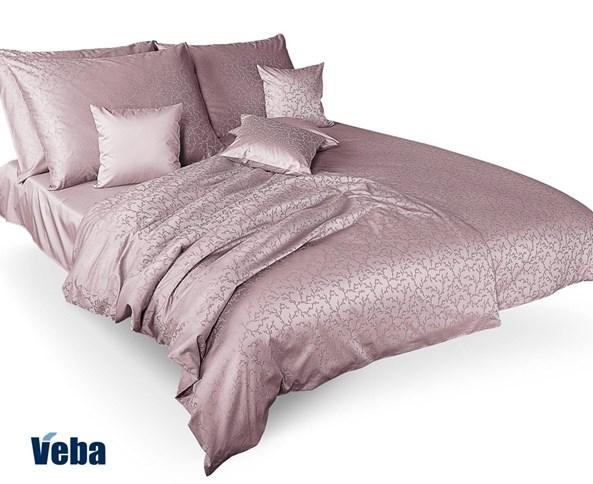 Lenjerie de pat Tencel cu ramurele, roz prafuit