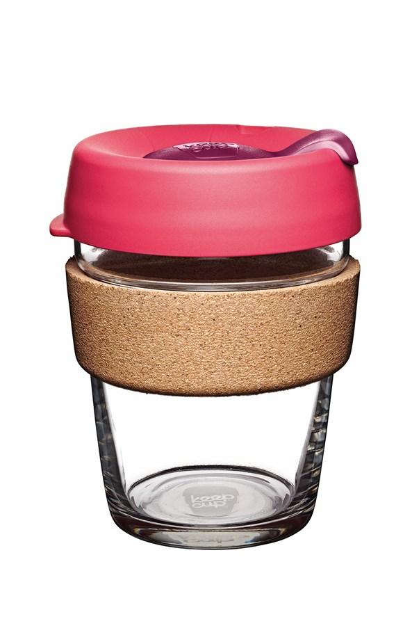 Cana Keepcup 340 ml, cu pluta, roz