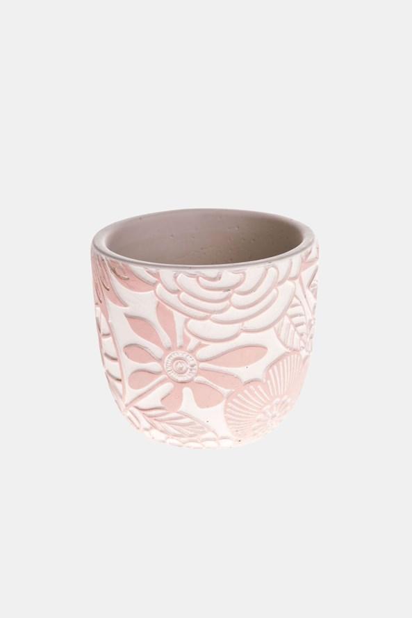 Ghiveci din beton, roz
