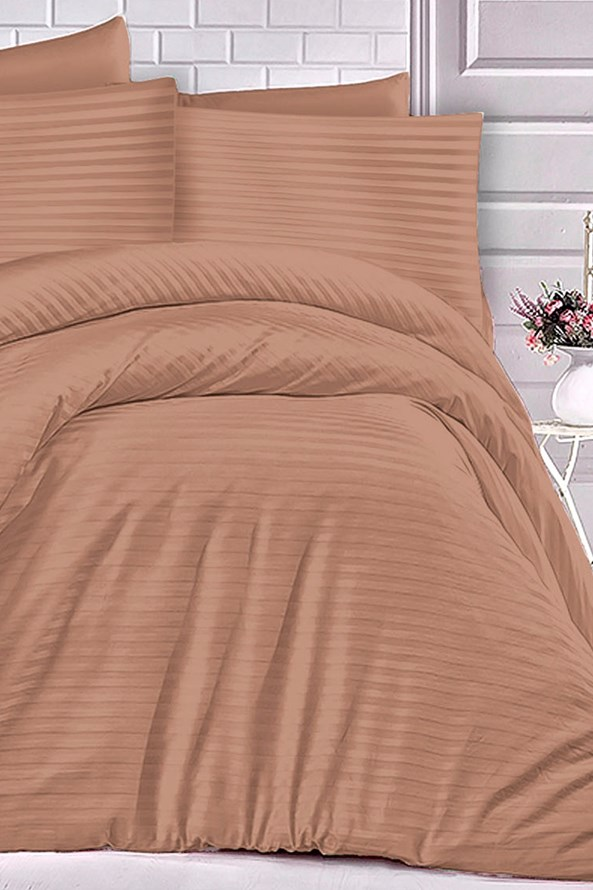 Lenjerie de pat din Atlas scorțișoară