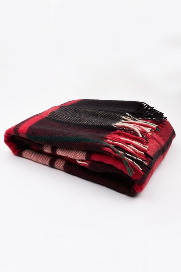 Patura de lux, lana Noua Zeelanda, rosu