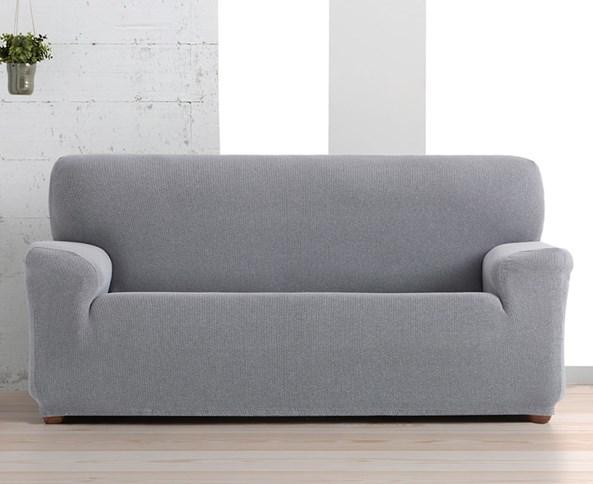 Husă Creta pentru canapea cu trei locuri, alb-negru