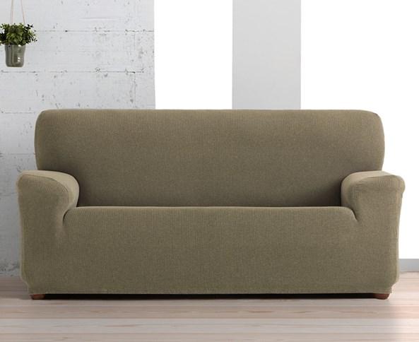 Husa Creta pentru canapea cu trei locuri, maro
