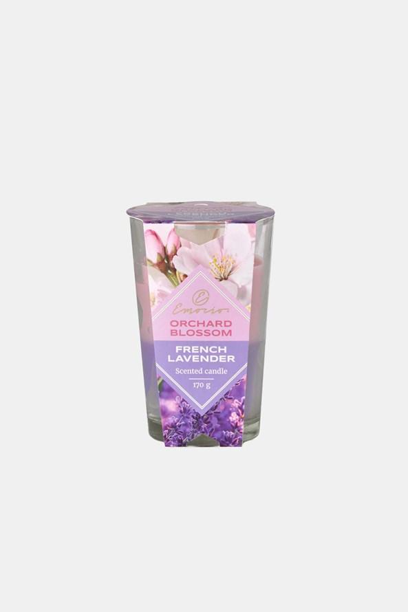 Lumânare parfumată Orchard Blossom și French Lavender două culori