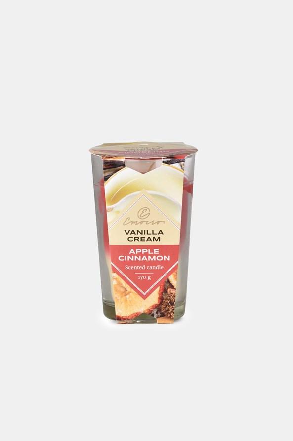 Lumânare parfumată Vanilla Cream and Apple Cinnamon două culori