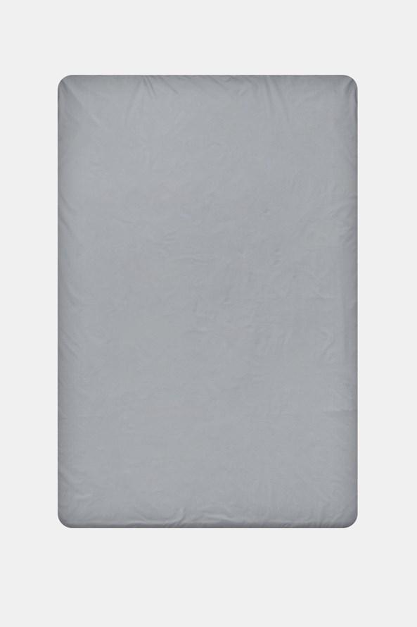 Cerşaf de pat cu elastic din bumbac, gri