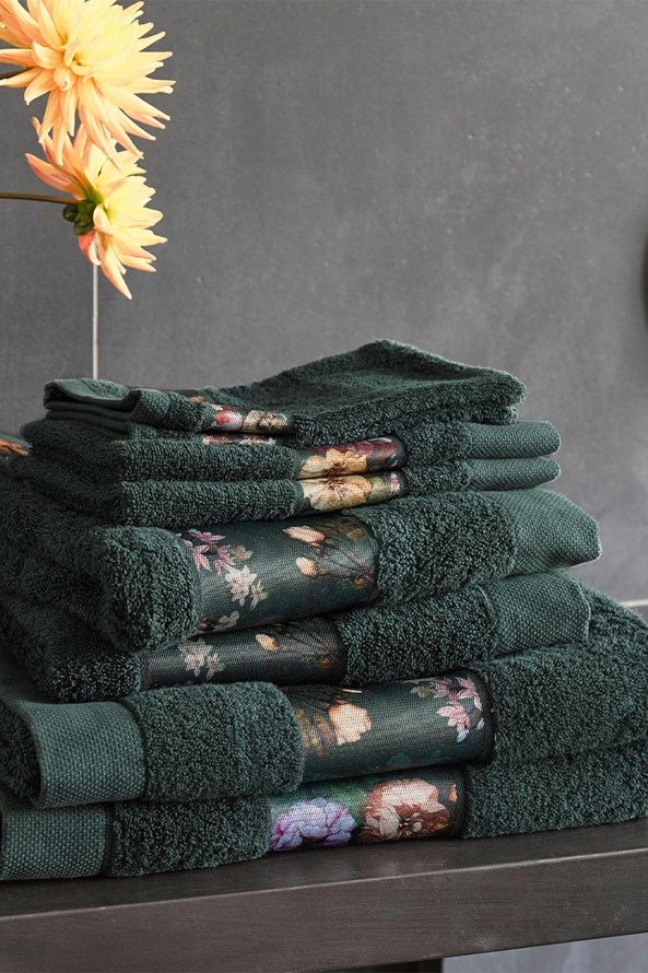 Prosoape Essenza Home Fleur, verde inchis