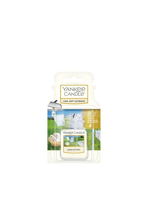 Gel odorizant auto Yankee Candle Clean Cotton