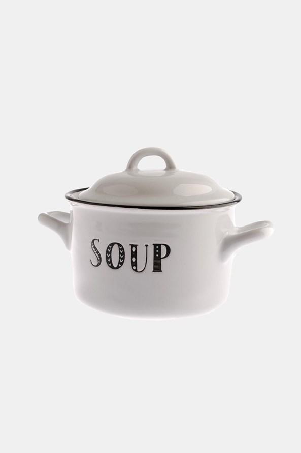 Cană de ceramică pentru supă