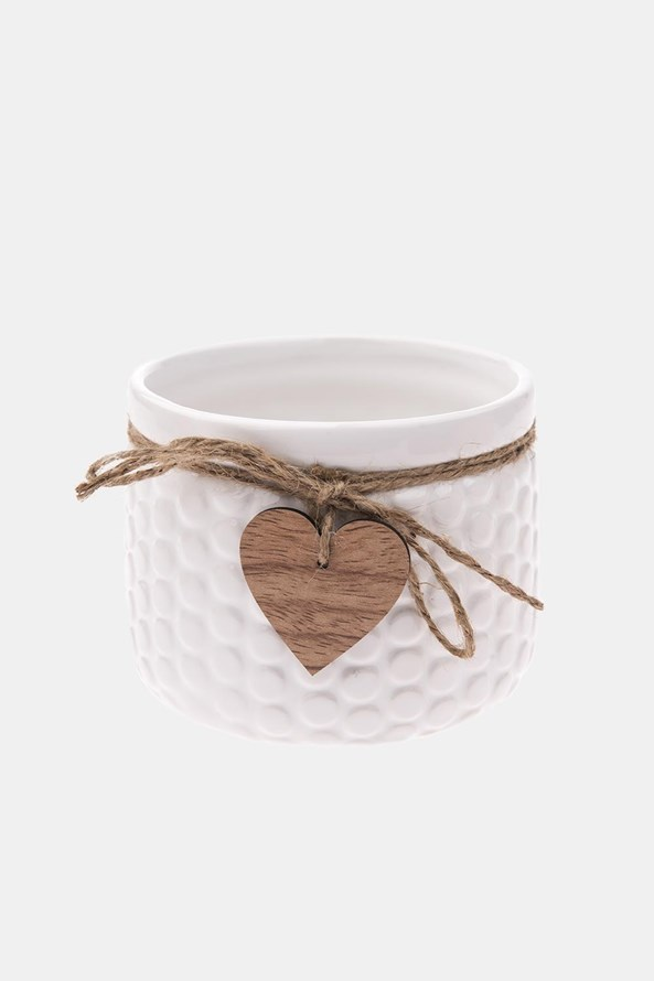 Ghiveci din ceramică, alb