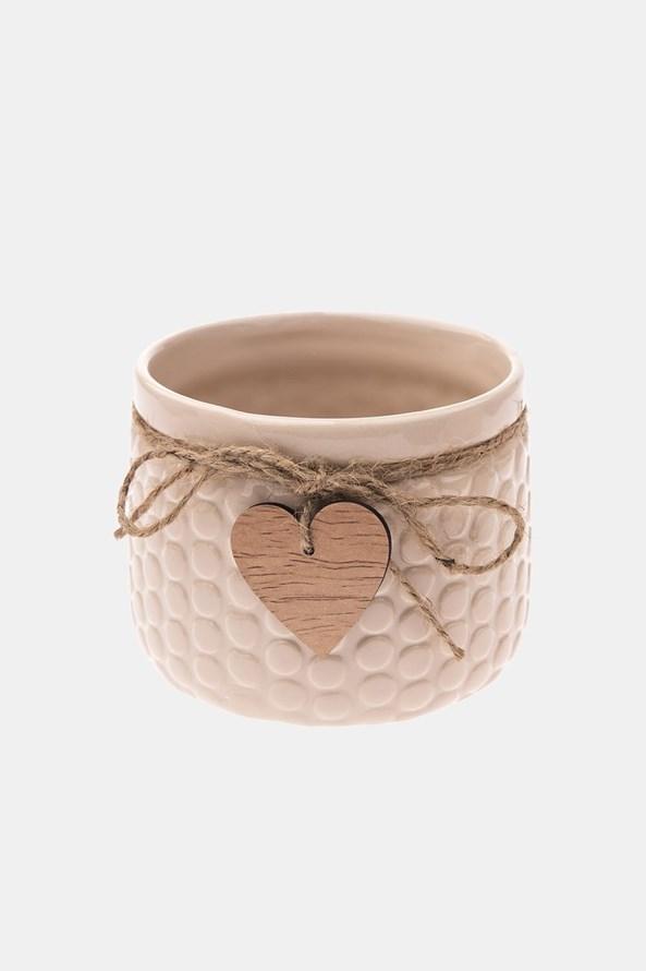 Ghiveci din ceramică, bej