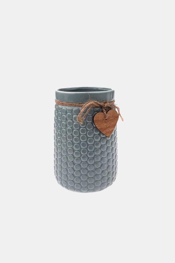 Vază ceramică, gri