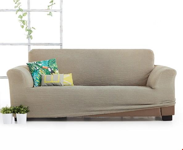 Husa Milos pentru canapea cu trei locuri, bej