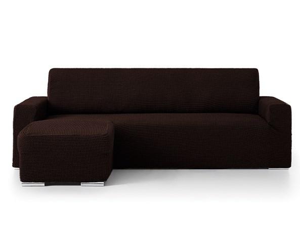 Husa pentru canapea coltar maro - stanga