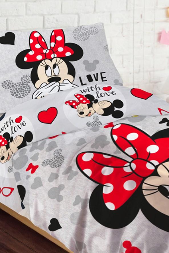Lenjerie de pat pentru copii Minnie Loves