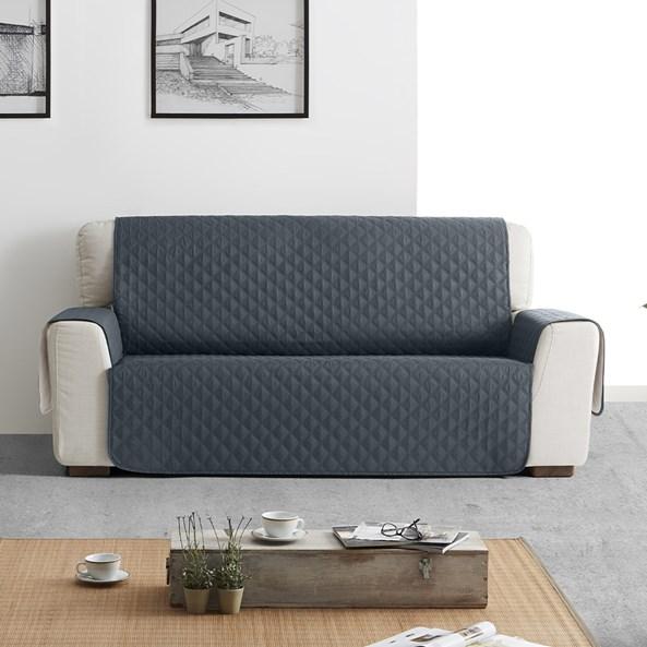Husa Moorea pentru canapea cu doua locuri gri
