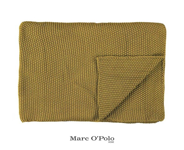 Pled tricotat Marc O Polo Nordic Oil, galben
