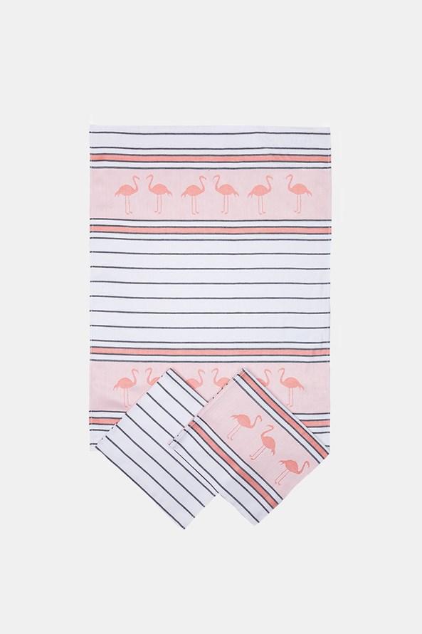 SET 3 prosoape de bucatarie Flamingo