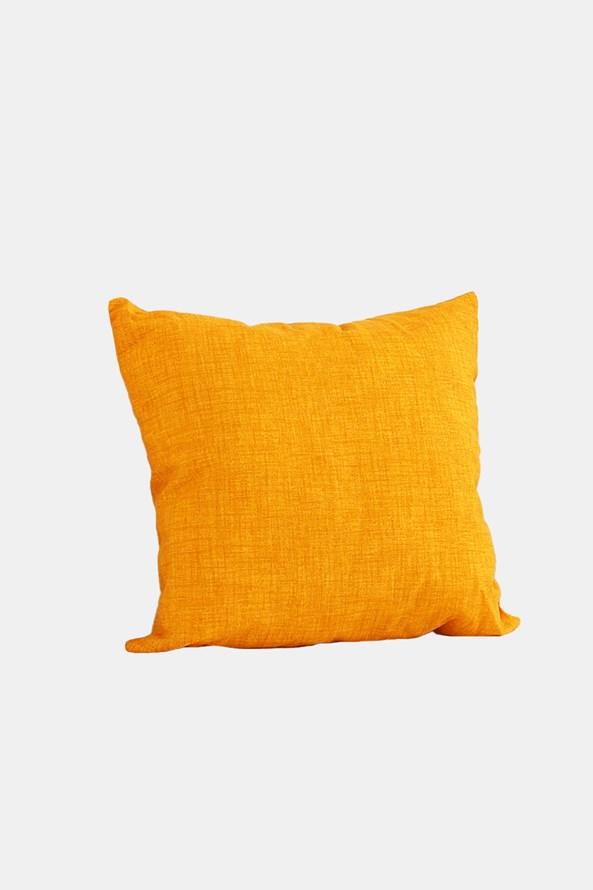 Pernă decorativă cu umplutură, galbenă