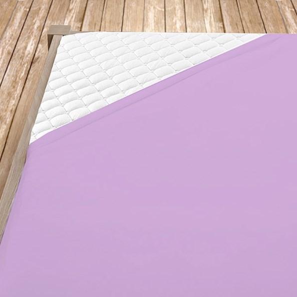 Cersaf de pat cu elastic din jersey, violet