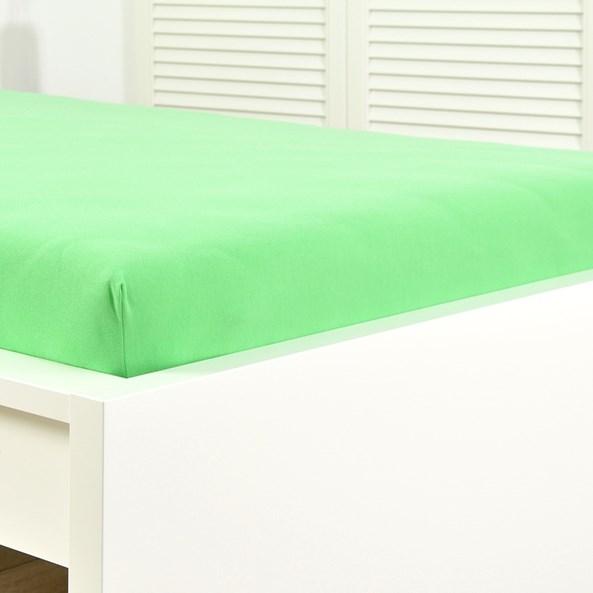Cersaf de pat cu elastic din jersey, lime