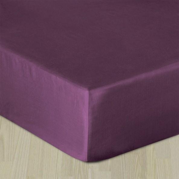 Cearșaf elastic satinat, violet