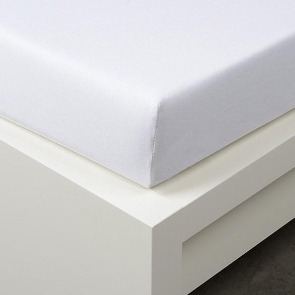 Cearșaf cu elastic Tencel, alb