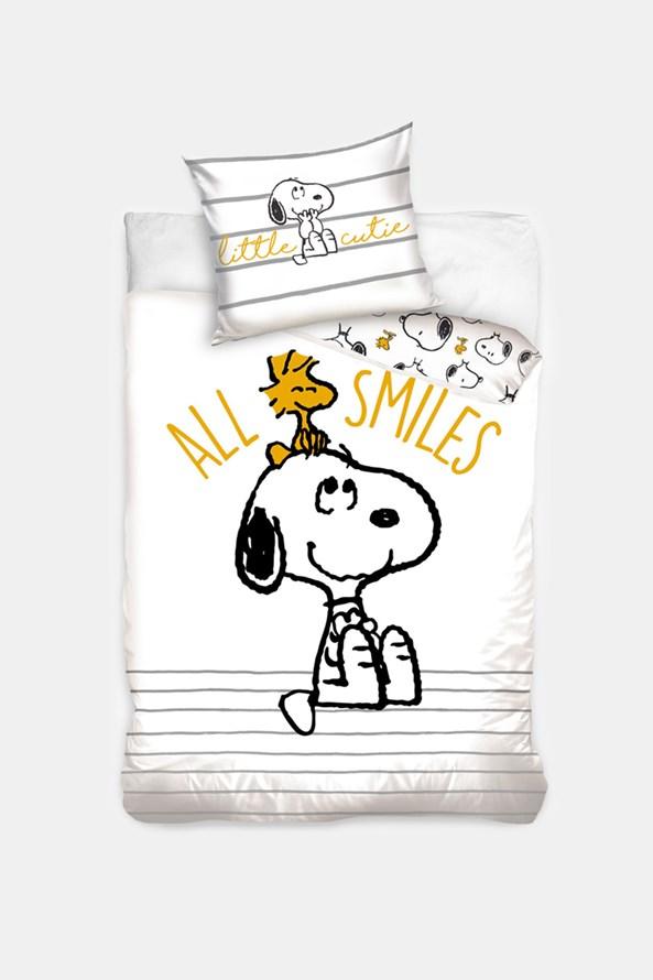 Lenjerie de pat pentru copii Snoopy Smile
