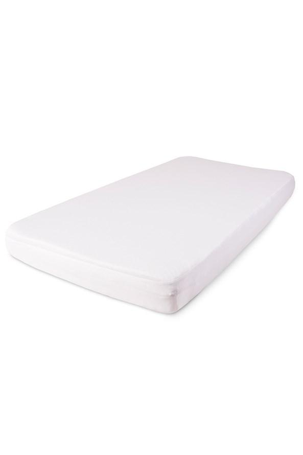 Cearsaf de pat cu elastic din tencel impermeabil, alb