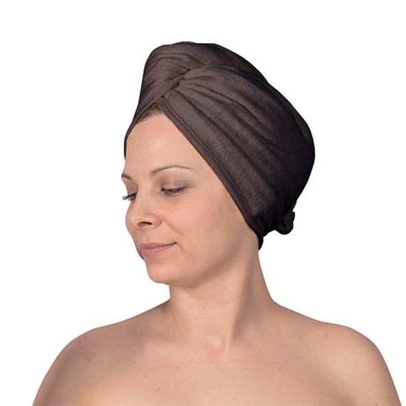 Turban pentru par, gri