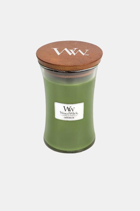 Lumânare mare WoodWick Evergreen