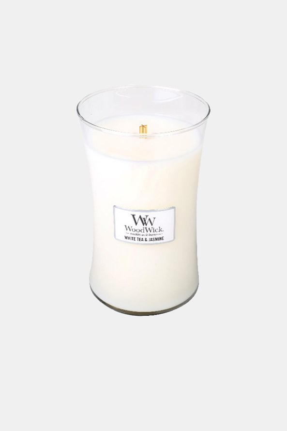 Lumânare mare WoodWick White Tea and Jasmine