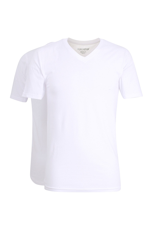 2pack tricou barbatesc Slim White