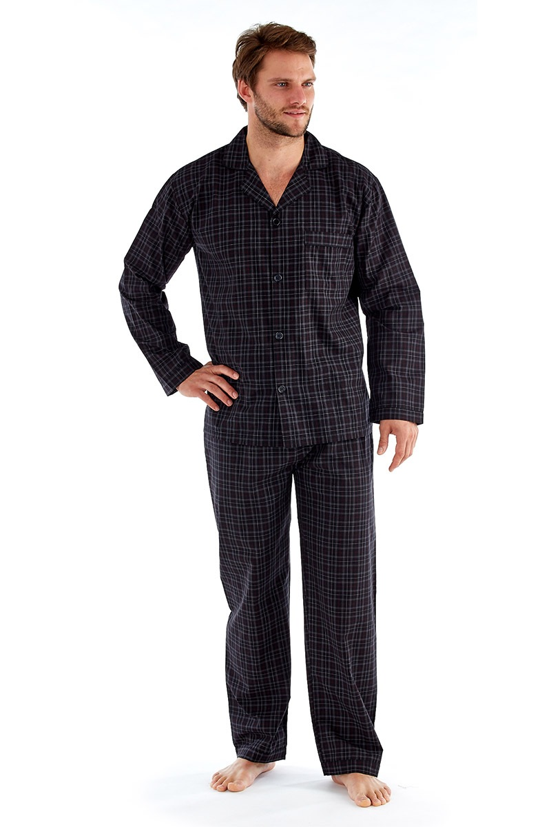 Pijama barbateasca Harvey Black Check Long