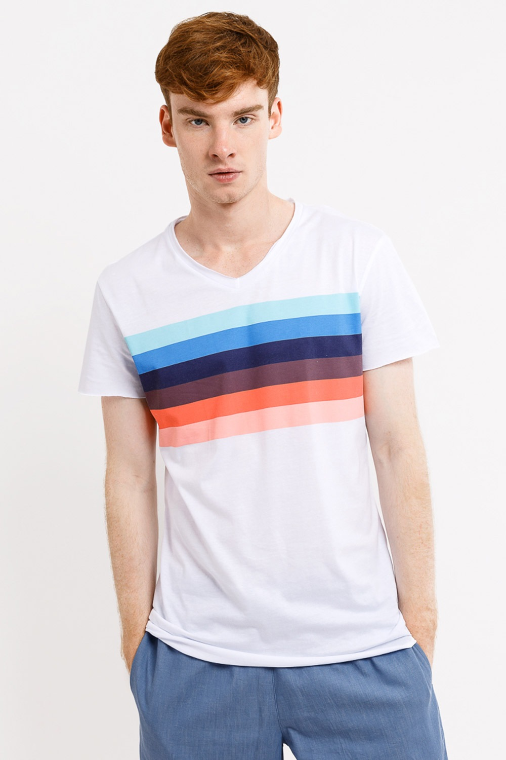 Tricou barbatesc MF Rainbow