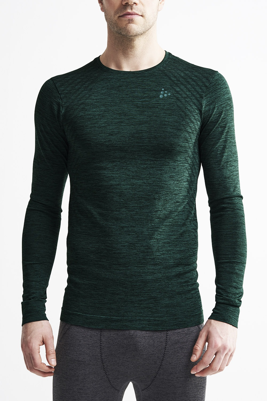 Bluza barbateasca Craft Fuseknit Comfort, verde inchis, material functional