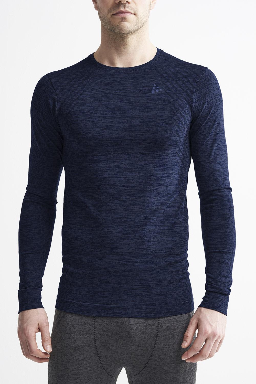 Bluza barbateasca Craft Fuseknit Comfort, albastru inchis, material functional de la Craft
