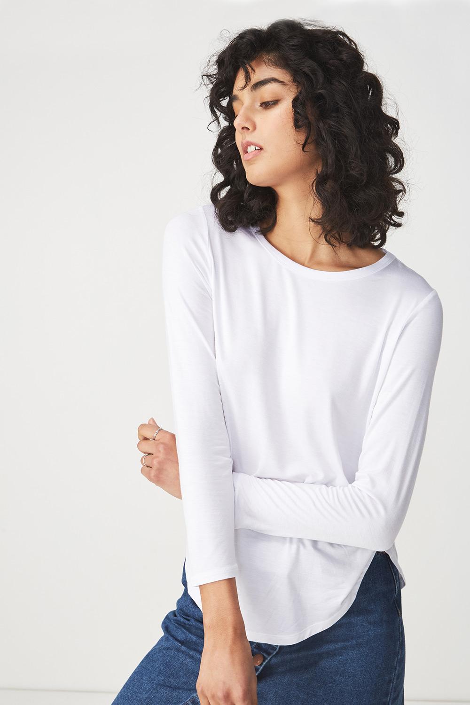 Bluza basic Kathleen, alb