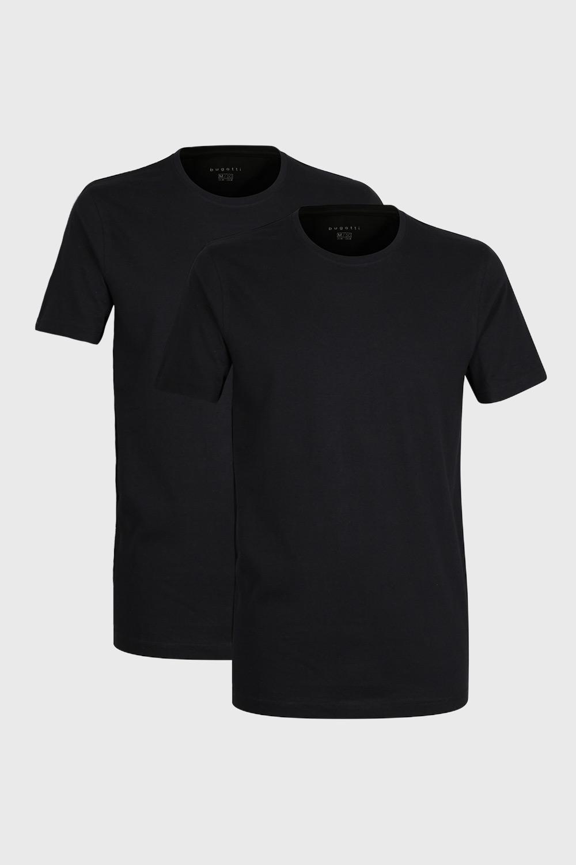 2 PACK tricou bărbătesc bugatti O-neck, negru