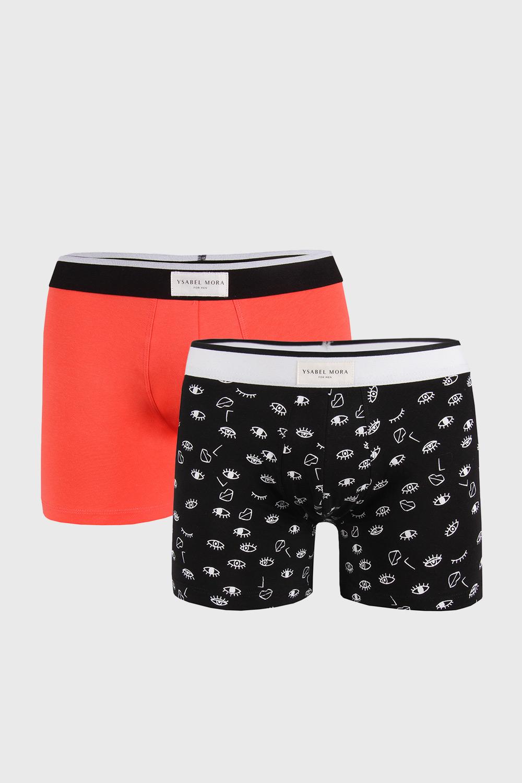 2 PACK boxeri Face, portocaliu-negru