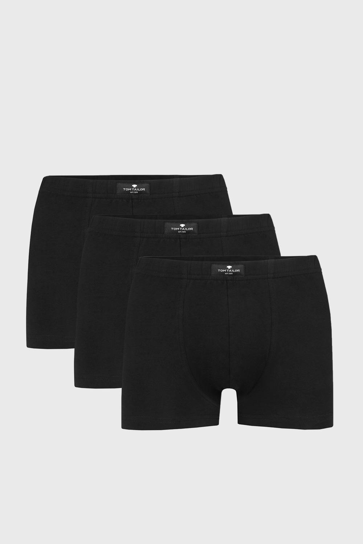3 PACK boxeri Tom Tailor Hip, negru