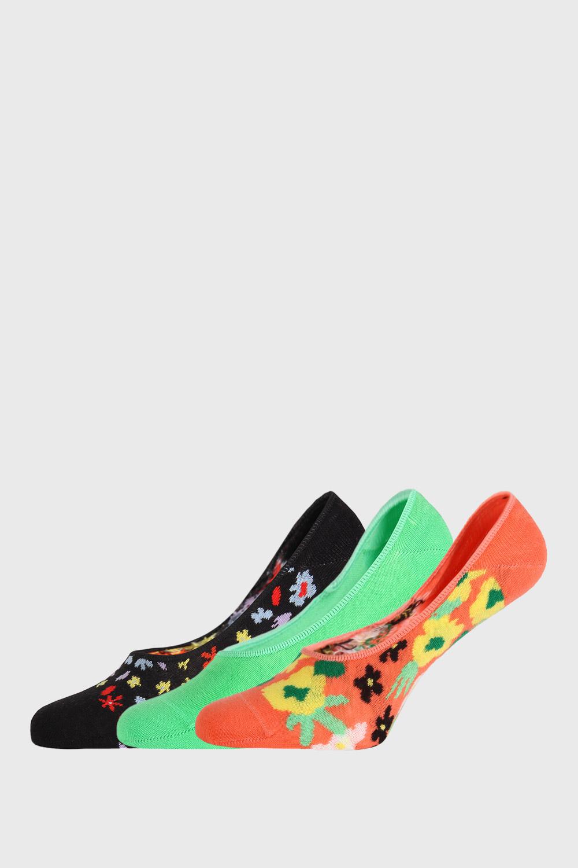3 PACK șosete Happy Socks Flower