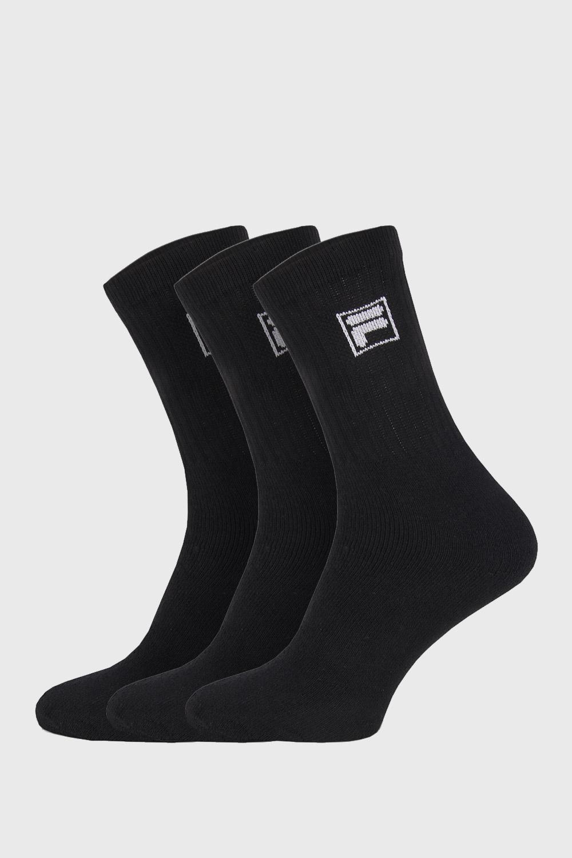 3 pack sosete negre cu logo-ul FILA de la Fila