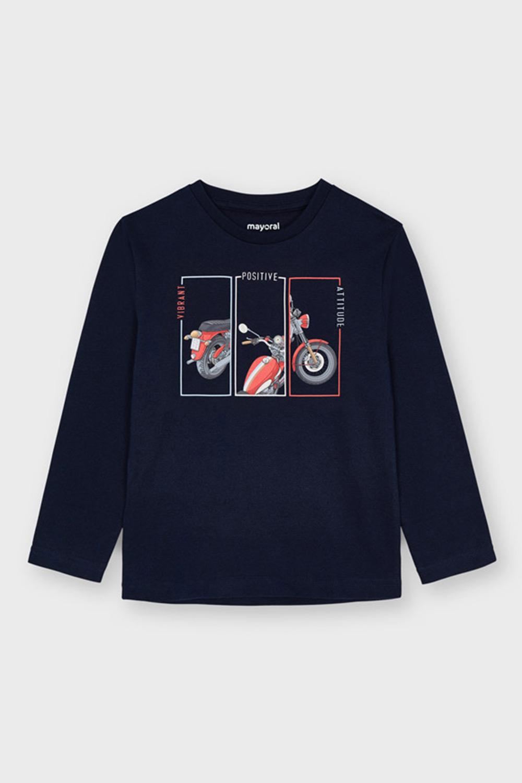 Bluză băieți Mayoral Positive mânecă lungă