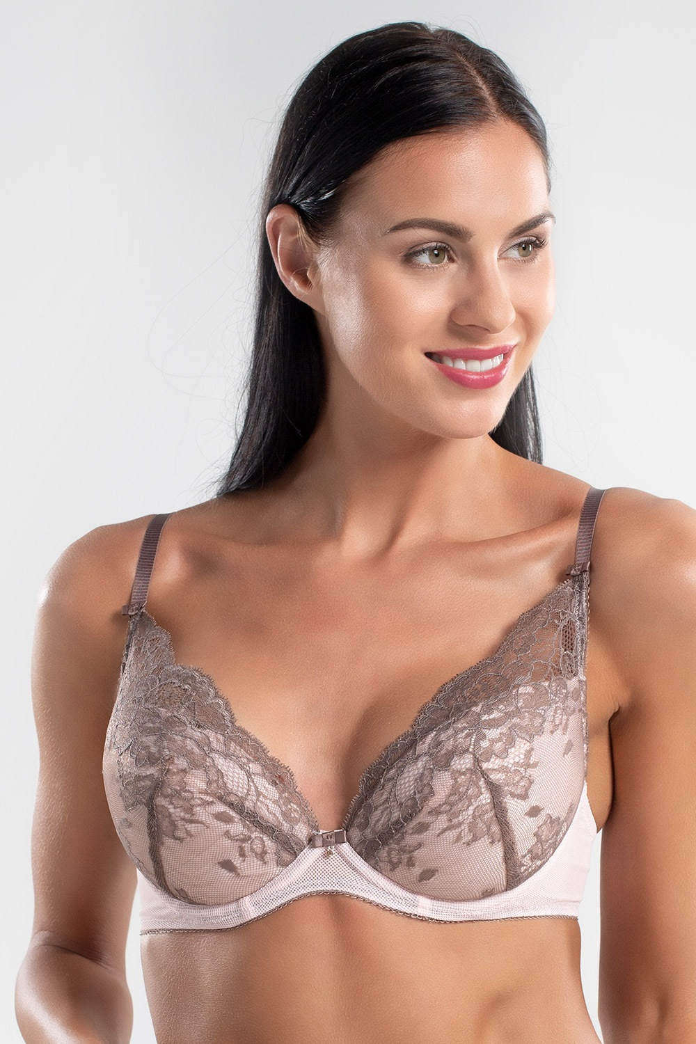 Sutien Smoky Rose Push-Up, pernite detasabile