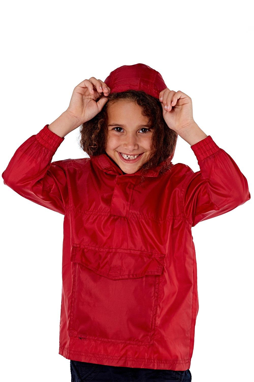Jacheta rosie copii pliabila ProClimalite, material impermeabil de la ProClimate